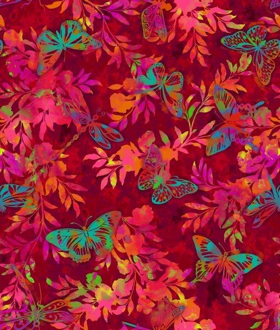 Cotton Print- Aflutter-Flutter and Fern- STH#11228686
