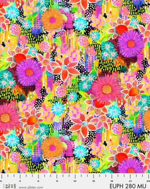 Digital Cotton Print- Euphora by Robin Mead- Flowers STH#11228907