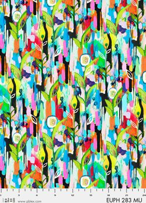 Digital Cotton Print- Euphora by Robin Mead- Leaves STH#11228909