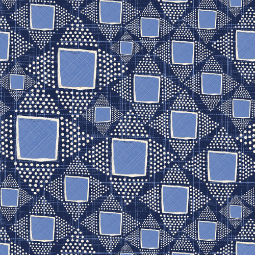 Cotton Print- Moody Blues- Dotted Diamonds- Dark Blue STH#11228923