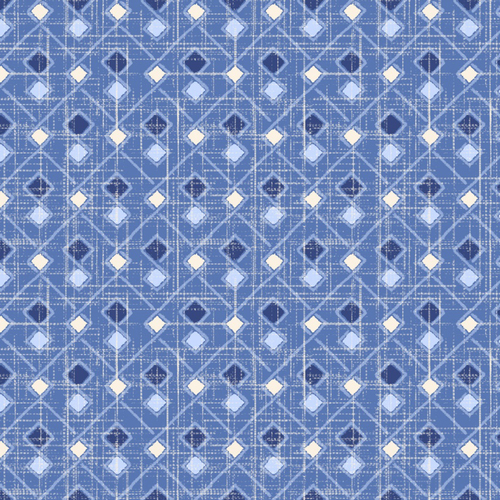 Cotton Print- Moody Blues- Argyle- Medium Blue STH#11228924