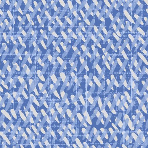 Cotton Print- Moody Blues- Dashes- Medium Blue STH#11228925