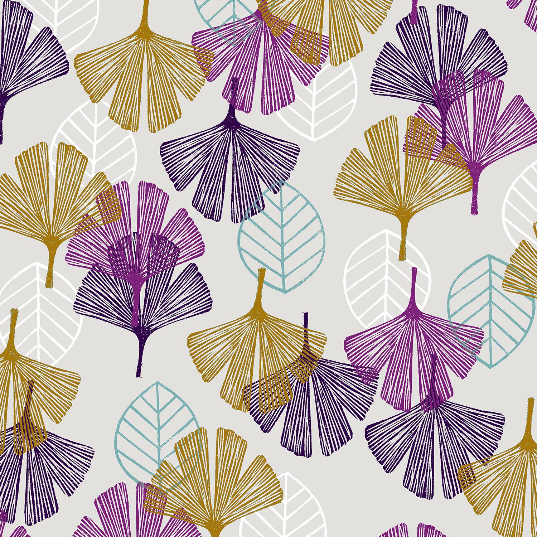 Cotton Poplin- Happy Day- Leaf- Cloud STH#11229572