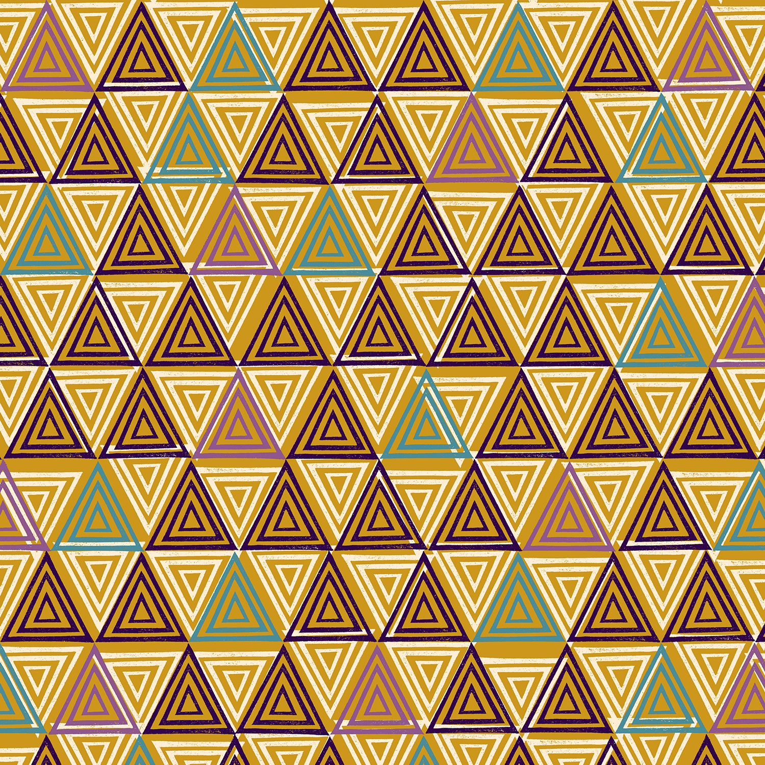 Cotton Poplin- Happy Day- Triangle- Amber STH#11229573