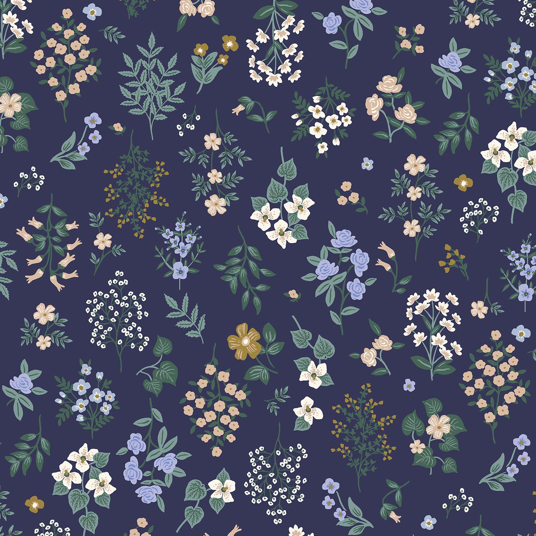 Cotton Poplin- Strawberry Fields- Hawthorne- Navy STH#11229596