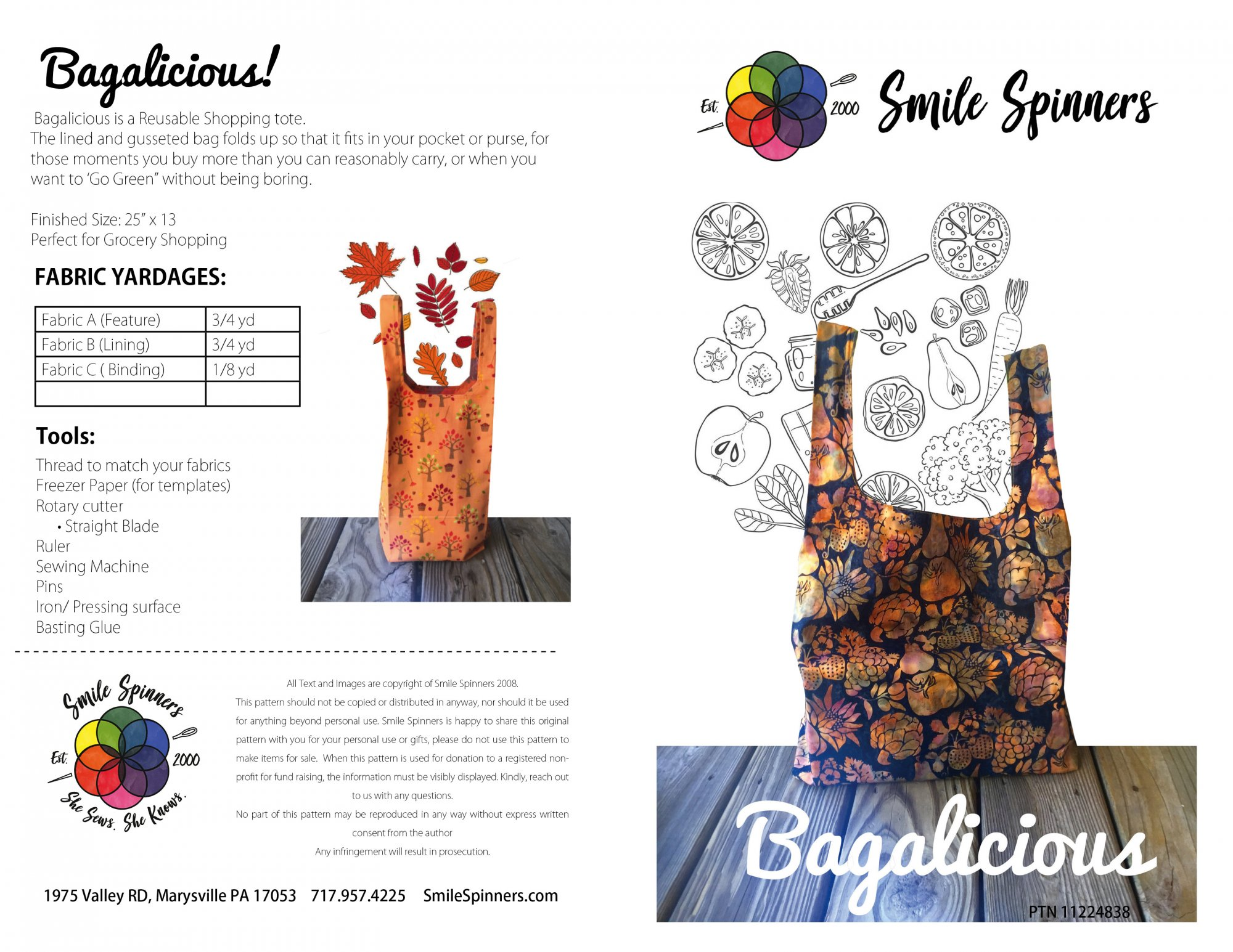Bagalicious Shopping Tote - PRINTED COPY