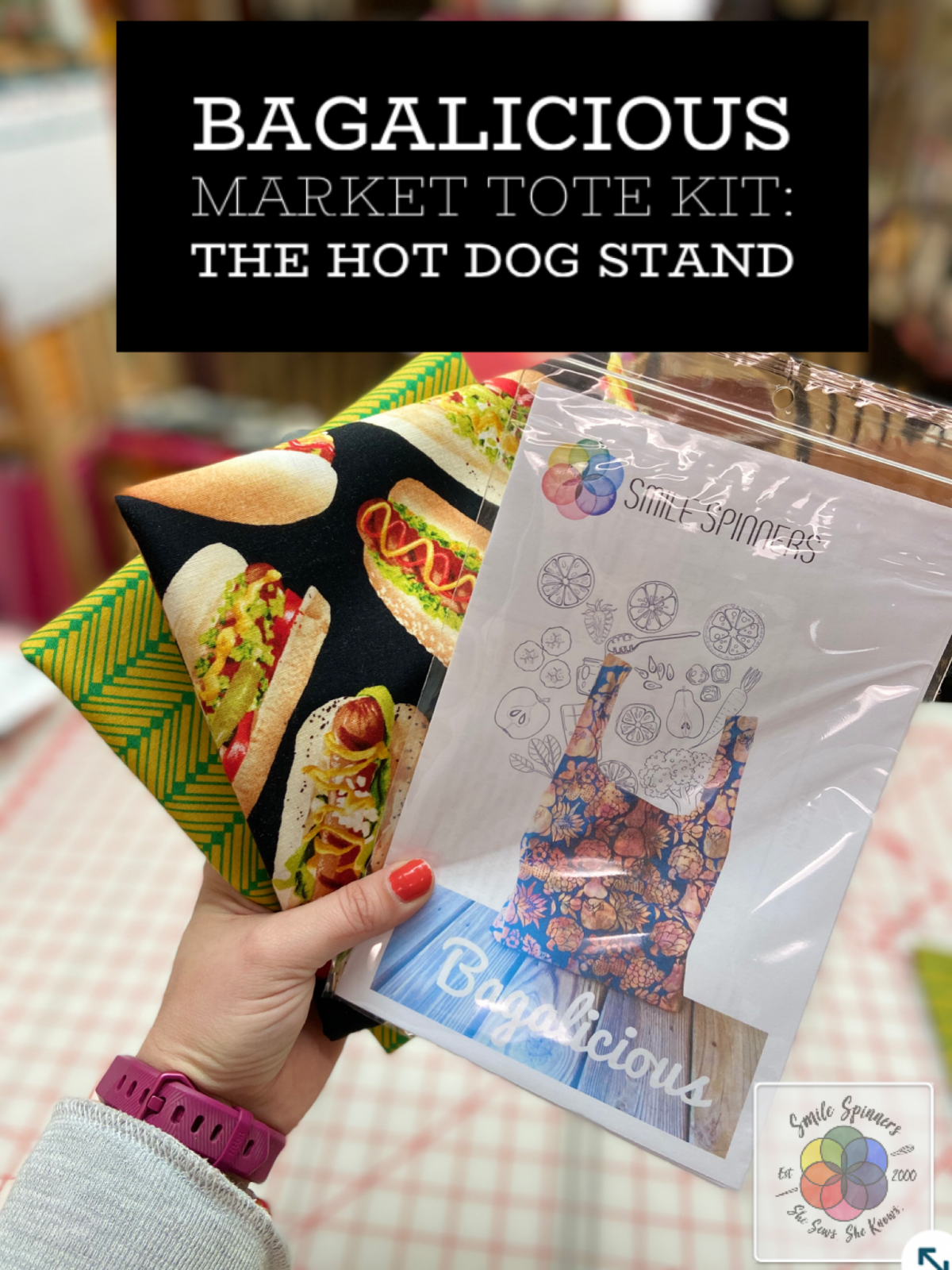 Fabric Kit for Bagalicious Market Tote- Hot Dog Stand