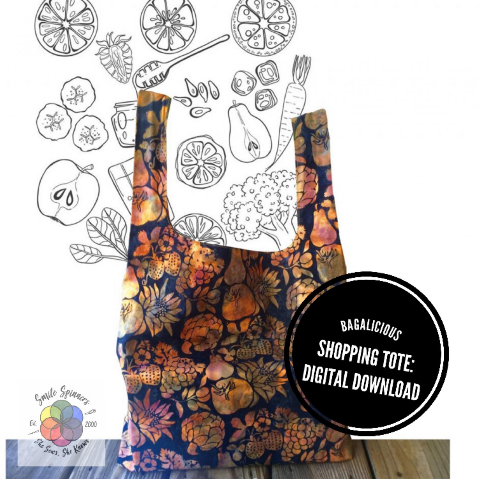 Bagalicious Shopping Tote Pattern- DIGITAL DOWNLOAD