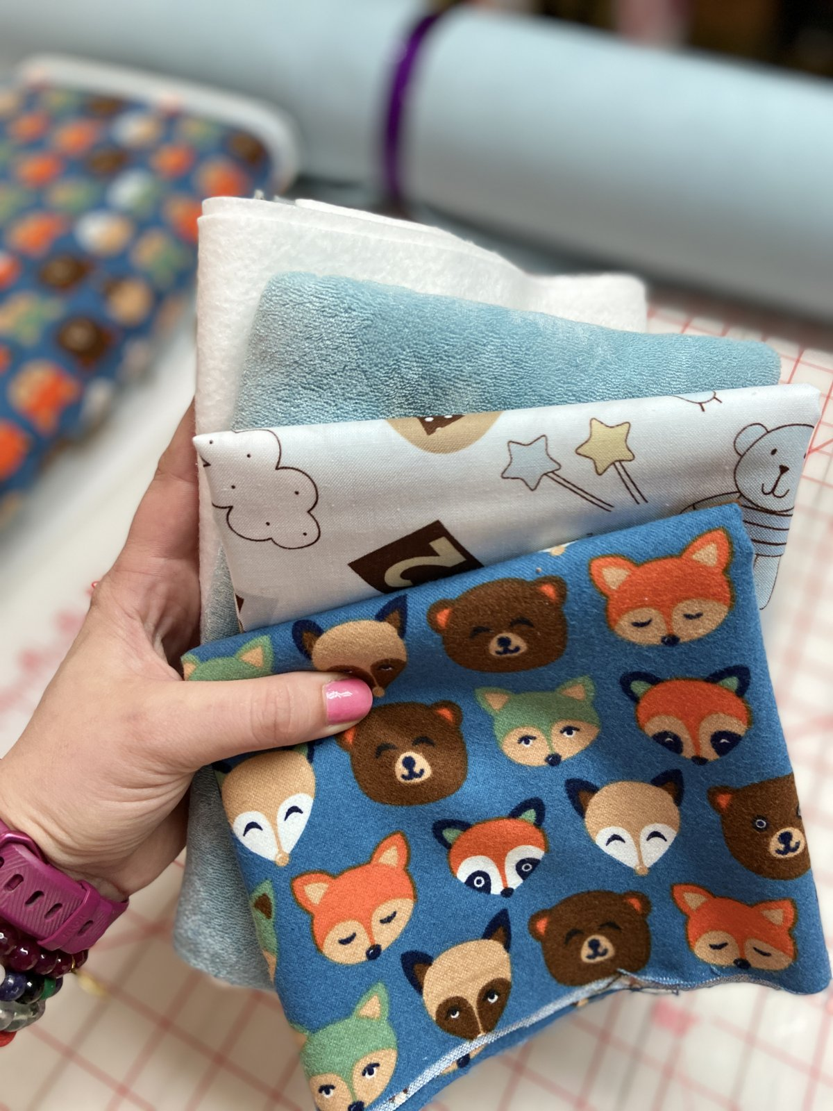 Burp Cloth Kit with Bamboo Terry (makes 4)