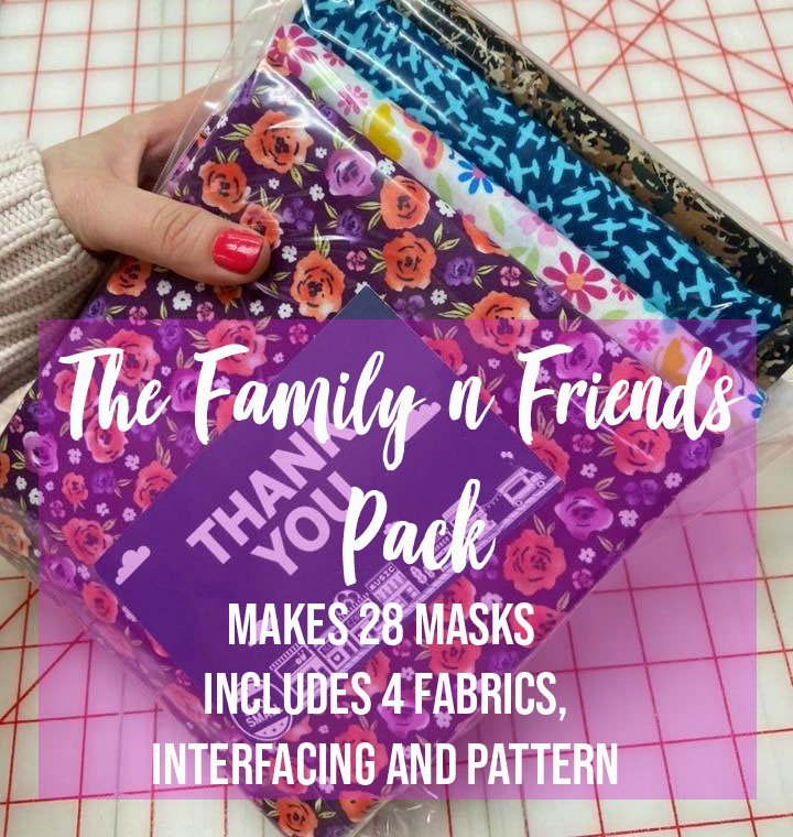 28pc mask kit with ties (Perfect for Family and Friends)