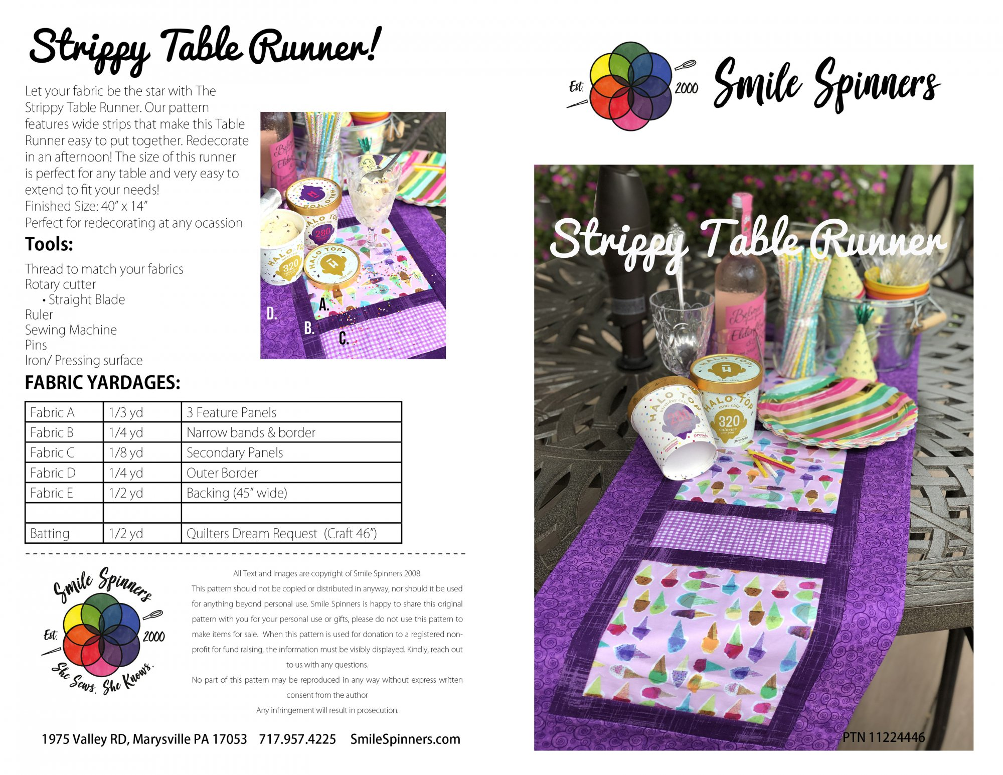 Strippy Tablerunner