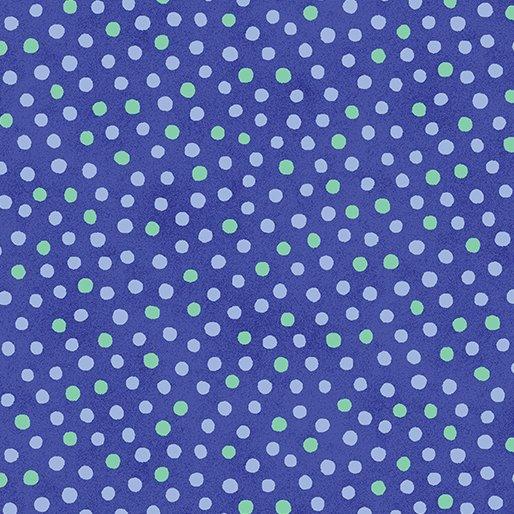1yd 23.5 Dot Bluebell Summer Garden