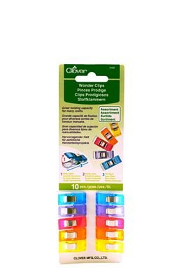 10 ct Wonder Clips Assorted Colors