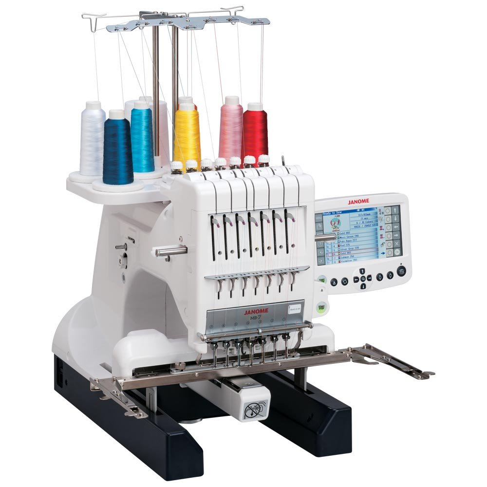 JANOME MB-7, 7 NEEDLE EMBROIDERY MACHINE