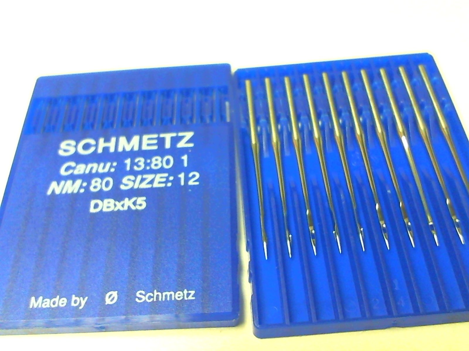 DBXK5 #80/12INDUSTRIAL NEEDLES JANOME MB4 HAPPY PACKAGE OF 10  SCHMETZ