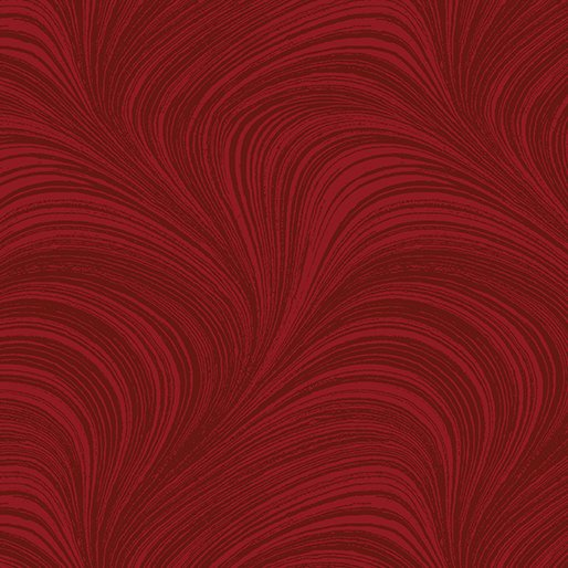 108 Wide Medium Red Wave Texture (by the yard)