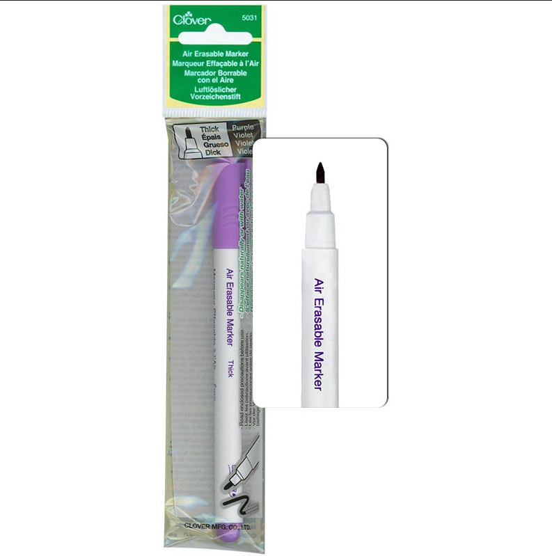 Clover Air Erasable Marker Thick Purple 5031CV