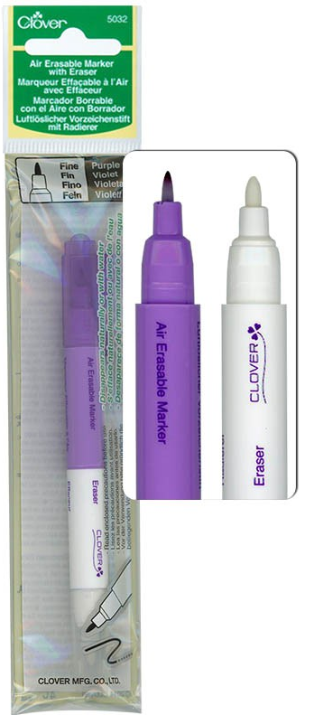 Clover Air Erasable Marker With Eraser 5032CV