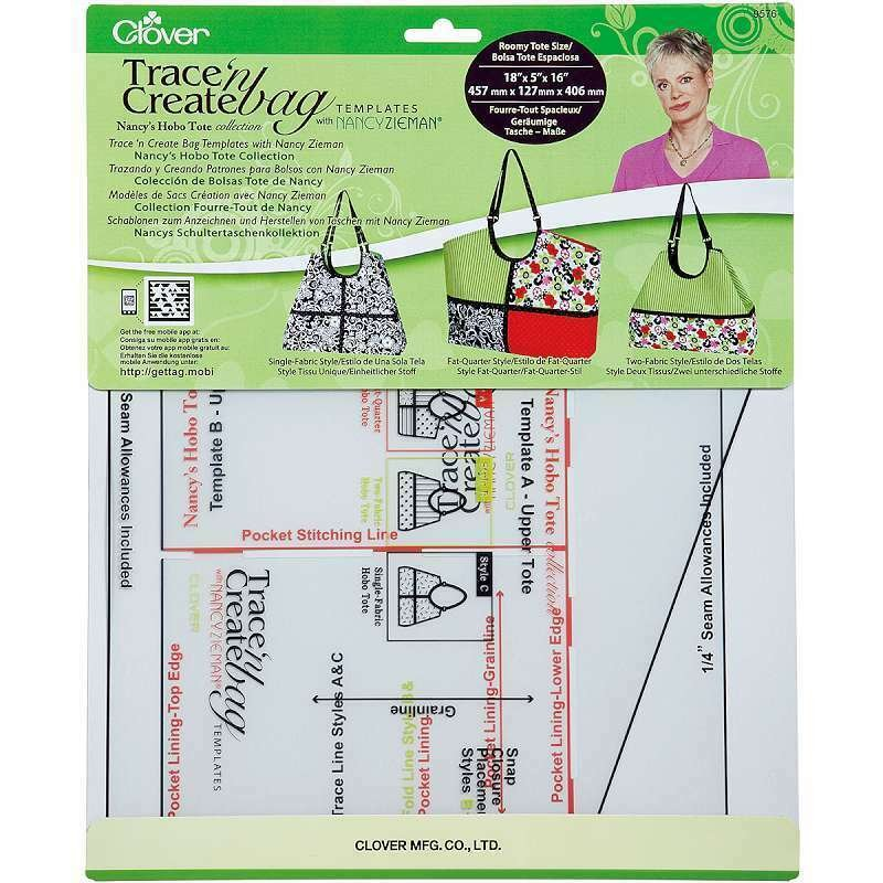 Clover Trace 'n Create BagTemplates with Nancy Zieman