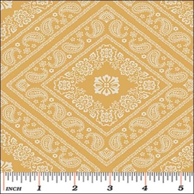 Benartex - Bandana  Florals Bandana Yellow 06127 33