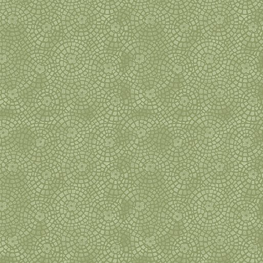 Benartex Sunshine Garden Green Garden Tiles 10076 42