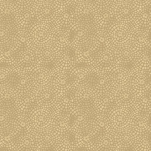 Benartex Sunshine Garden Tan Garden Tiles 10076 72