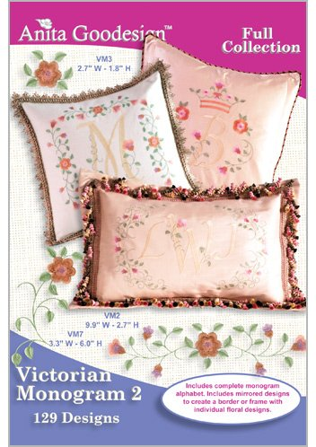 Victorian Monogram 2 Anita Goodesign Embroidery Machine Design CD NEW 107AGHD