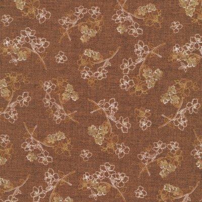 Fabri-Quilt Topaz Etched Floral Brown 112-27591