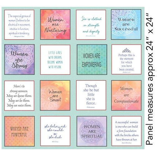 Benartex Women Are Words Panel Multi 1163 99