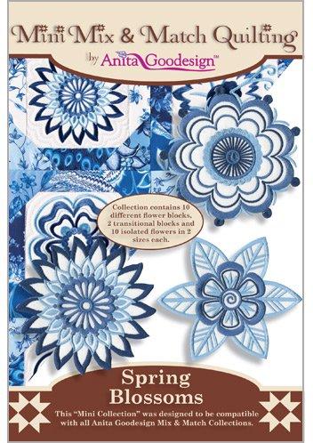 Anita Goodesign  Mix & Match Quilting  Spring Blossoms 136MAGHD