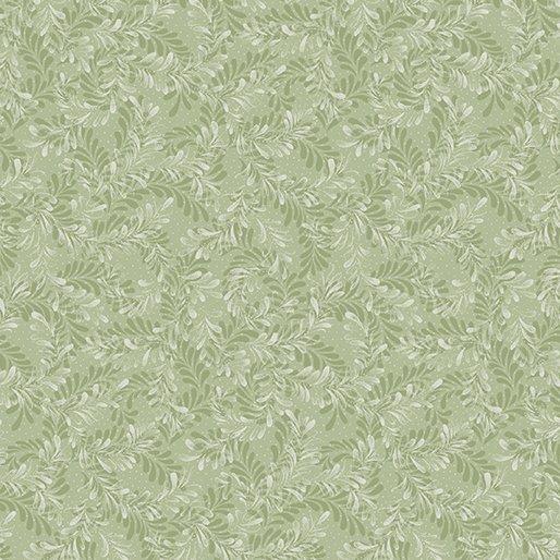 Benartex Sunshine Garden Seafoam Leaf Dance 1409 04