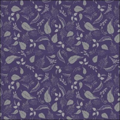 Wilmington Prints Purple Haze Purple with Gray Leaves  1655 44068  699