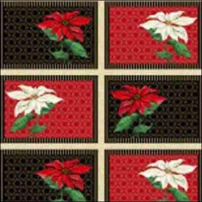 Wilmington Prints Christmas Joy Black Placemats Panel 1665 33772 239