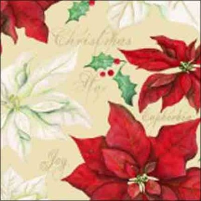 Wilmington Prints Christmas Joy White with Red Pon 1665 33774 231