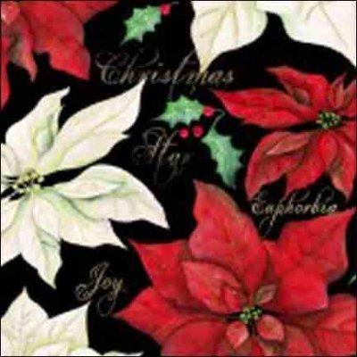 Wilmington Prints Christmas Joy Black with Red/White Pon 1665 33774 931