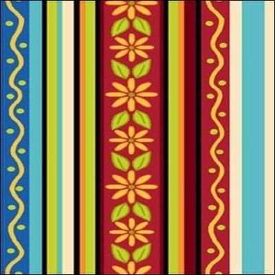 Quilting Treasures  Salsa Stripe Multi 1649 24102 X