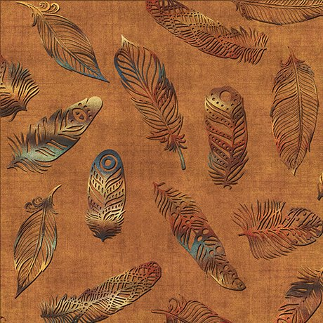 Quilting Treasures Where The Wise Thing Owl Feathers Lt. Rust 1649 26530 T