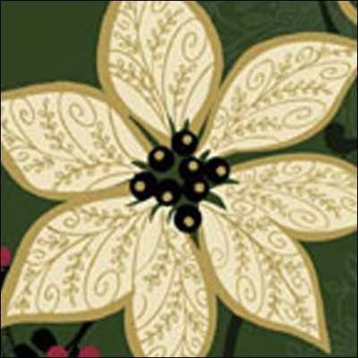 Benartex - Christmas Spectacular 2725-44 PinePoinsettia Spectacular