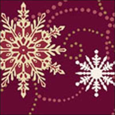 Benartex - Christmas Spectacular 2727-88 BurgandyFlakes and Flurries