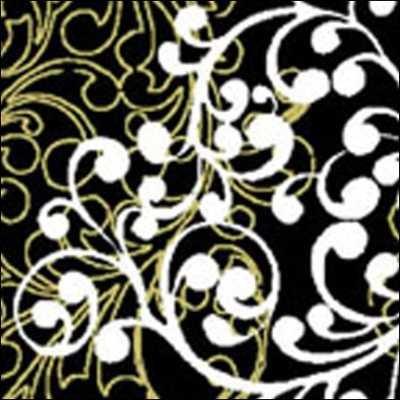Benartex - Christmas Spectacular 2728-12 Black/WhiteWinter Scroll