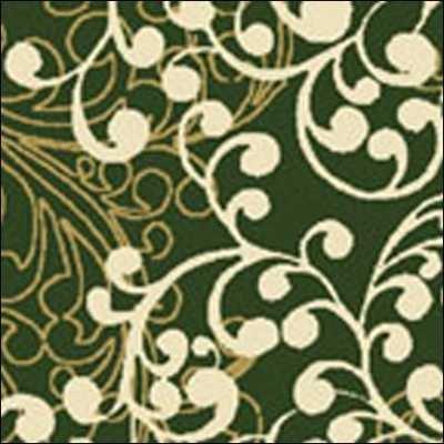 Benartex - Christmas Spectacular 2728-44 Pine/Lt.HoneyWinter Scroll