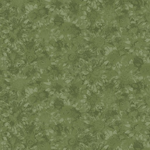 Benartex Sunshine Garden Dark Green Whispering Sunflower 2774 44