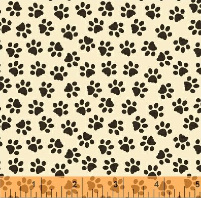 Windham Fabrics-Unleashed-35558-4-Paws All Over Cream