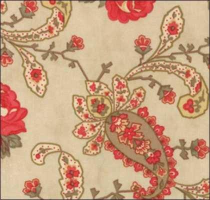 Moda Grace 4054 12Grace Paisley Roses Ivory