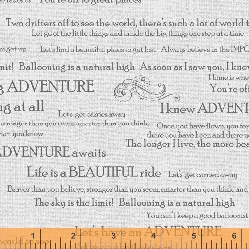 Windham Fabrics Adventure Awaits 43447 2 All over Words White Background