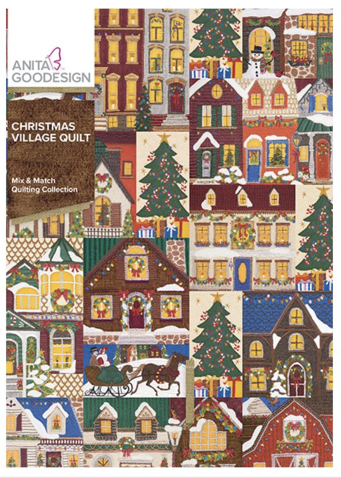 Anita Goodesign Christmas Village Quilt 443AGHD