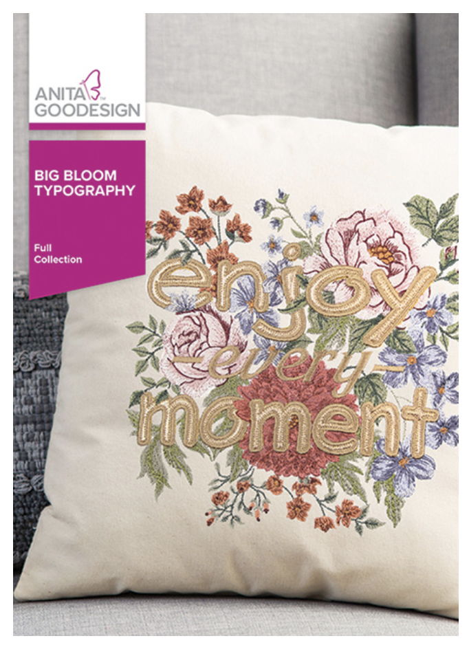 Anita Goodesign Big Bloom Typography 446AGHD