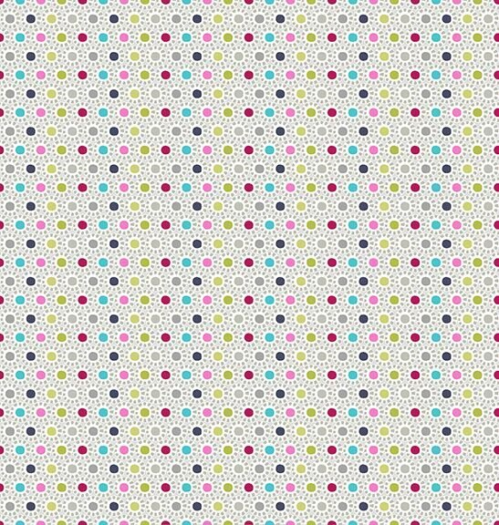 Blank Quilting Stof  O B O 4507 643 Multi Colored Dots