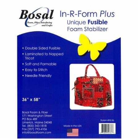 Bosal In R Form Plus Unique Fusible  Foam Stabilizer 36 X 58