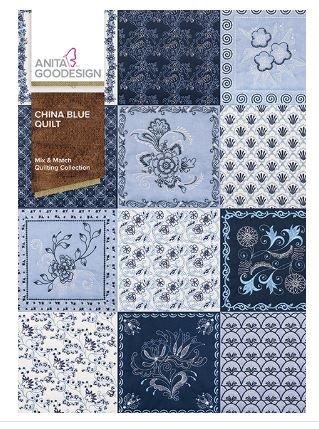 Anita Goodesign China Blue Quilt 439AGHD